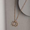 Italia Pearl Necklace-Gold