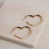 Harriet Heart Earrings-Gold