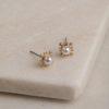 Anise Stud Earrings-Gold