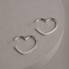 Harriet Heart Earrings-Silver