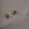 Beatrix Heart Earrings-Gold
