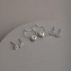 Alluna Set of Three Earrings-Silver