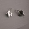 Peppa Heart Earrings-Silver
