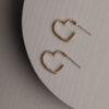 Eleanor Heart Hoop Earring-Gold