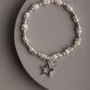Carrington Star Bracelet-Pearl