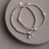 Callie Set of 2 Bracelets-Silver