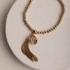 Sally Mini Tassel Bracelet-Gold