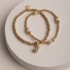 Callie Set of 2 Bracelets-Gold