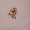 Sidra Huggie Earrings-Gold