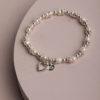 Delta Heart Bracelet-Pearl