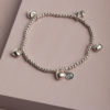 Trixabelle Heart Bracelet-Silver