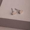 Ramelle Heart Earrings-Silver