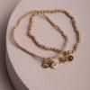 Charity Set of 2 Bracelets-Gold