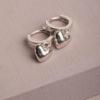 Bella Huggie Earrings-Silver