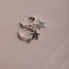 Tasia Huggie Earrings-Silver