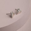 Beatrix Heart Earrings-Silver
