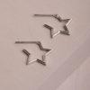 Poppy Star Earrings-Silver