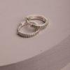 Portia Huggie Earrings-Silver