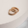 Portia Huggie Earrings-Gold