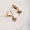 Ambria Starburst Earring-Gold