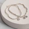 Charity Set of 2 Bracelets-Silver