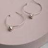 Tallie Heart Earrings-Silver