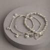 Hearts mini stack-silver