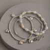 Hearts and Pearls Mini Stack-Silver/Pearl
