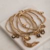 Starbursts and Tassels Stack-Gold