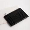 Large Clutch Bag - Black Croc