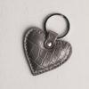 Heart Keyring - Dark Grey Croc