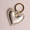 Heart Keyring - Gold Metallic