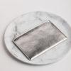 Large Clutch Bag - Silver Metallic